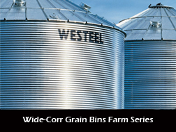 Wide Corr Grain Bins